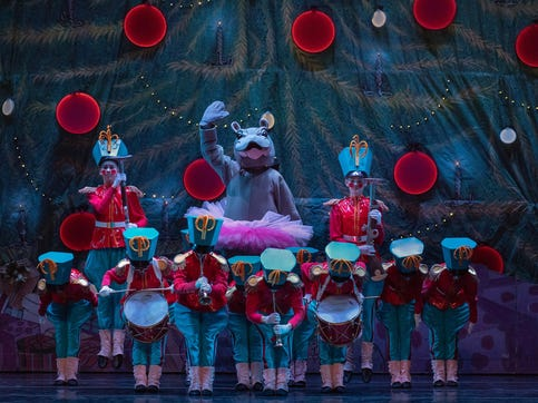 """With the global interest in Cincinnati Zoo's newborn hippo Fiona, Cincinnati Ballet artistic director Victoria Morgan found a way to include a Fiona character in the 2018 production of """"The Nutcracker Presented by Frisch's Big Boy."""" Fiona will return this year."""