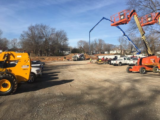 Construction is getting under way on the new Loaves and Fishes facility on Crossland Avenue.