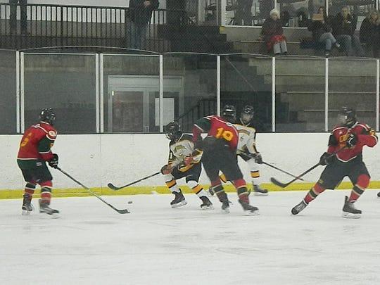 Edison vs. South Brunswick ice hockey on Wednesday, Dec. 11, 2019.