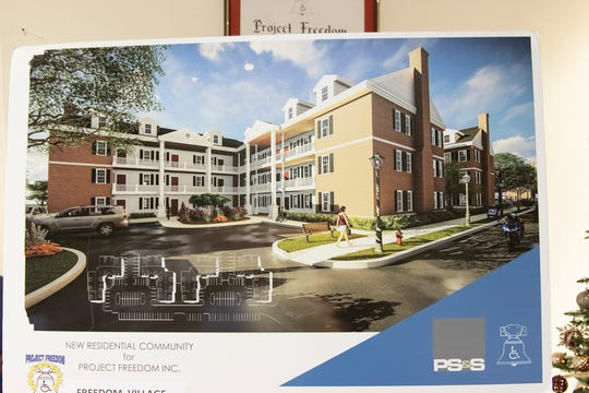 Rendering of Freedom Village at Robbinsville.