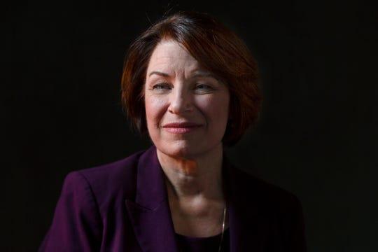 Sen. Amy Klobuchar poses for a portrait on Dec. 5, 2019 in Des Moines.