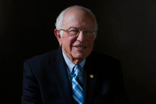 Sen. Bernie Sanders poses for a portrait on Dec. 6, 2019 in Des Moines.