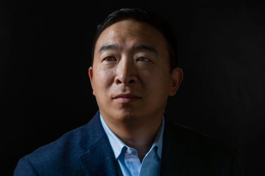 Andrew Yang poses for a portrait on Dec. 10, 2019 in Des Moines.
