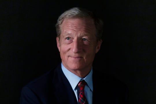 Tom Steyer poses for a portrait on Nov. 1, 2019 in Des Moines.