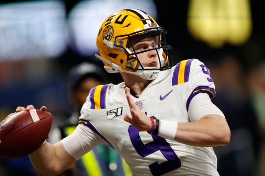 6. Joe Burrow, QB, LSU, 6-4, 216.