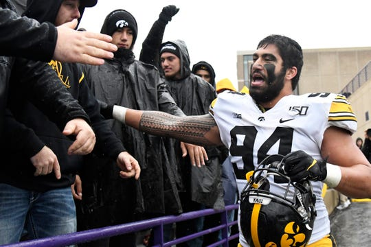Iowa DE A.J. Epenesa could interest a number of teams picking early in Round, like the Lions, Giants, Dolphins and Patriots.