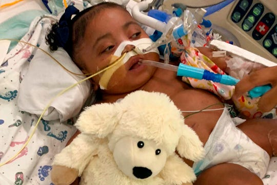 This undated photo provided by Texas Right to Life shows Tinslee Lewis. A new judge will consider whether a Texas hospital can take the 10-month-old girl off life support despite her family's opposition after the impartiality of the previous judge was questioned.