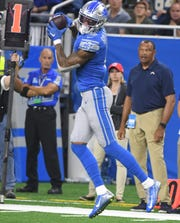 Lions receiver Kenny Golladay leads the NFL in touchdown catches with 10.