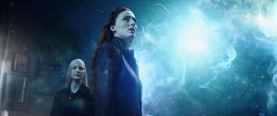 "Jessica Chastain and Sophie Turner in ""Dark Phoenix."""