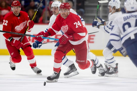 Red Wings defenseman Madison Bowey was placed on waivers on Monday.