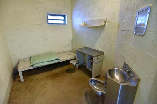 The interior of a typical jail cell.