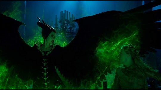 """Angelina Jolie and Elle Fanning in """"Maleficent: Mistress of Evil."""""""