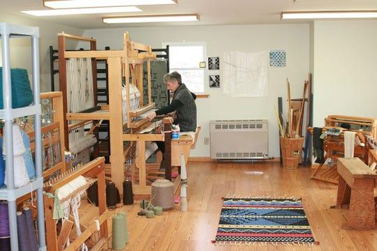 Carol Irving in her studio.