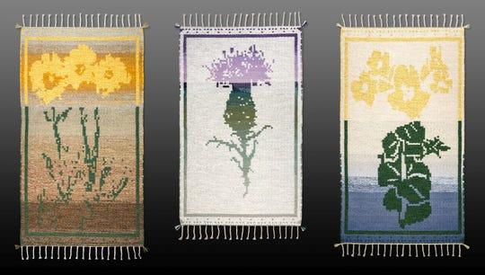 "Panels from Irving's ""A Weaver's Journal of Endangered Flowers."""