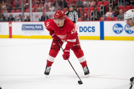 Filip Zadina was back with the Red Wings on Thursday, less than 24 hours after he had been reassigned to Grand Rapids.