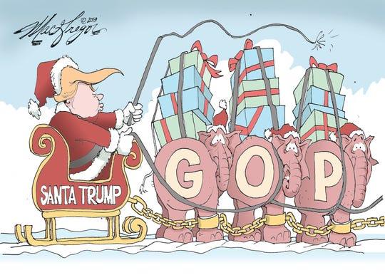 Santa Trump whips GOP.