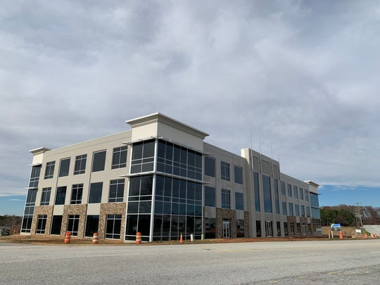 A new office building that will be part of the BridgeWay Station mixed use development in Mauldin is pictured on Wednesday, Dec. 11, 2019.