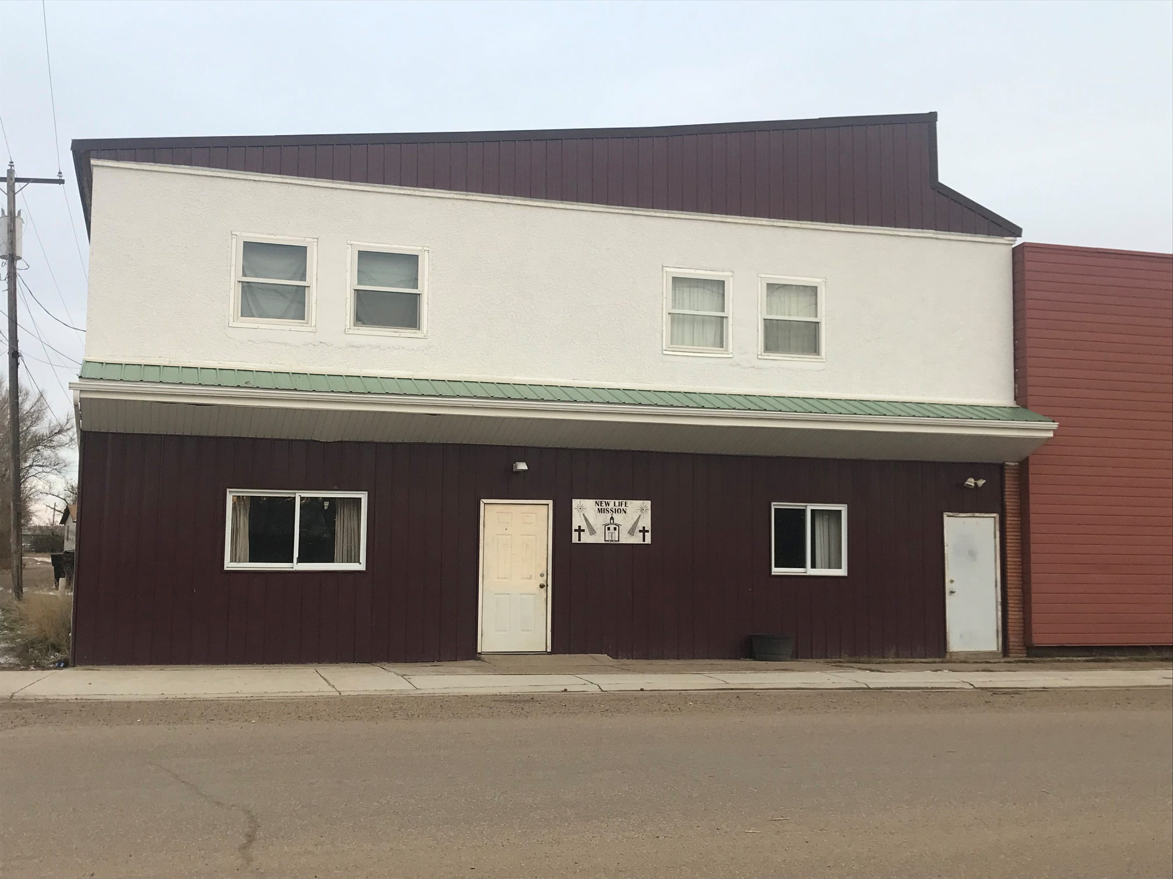 The New Life Mission, a homeless shelter in Poplar, closed for meth contamination.