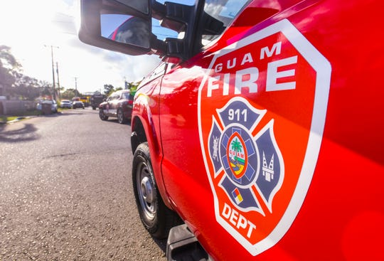 A Pacific Daily News file photo of a Guam Fire Department vehicle on Dec. 11, 2019.