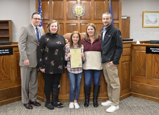 The December Judge's Scholar is Ariana Overton who is a 5th Grade Student at East Heights Elementary.  Her parents are Caleb and Tosha Overton.