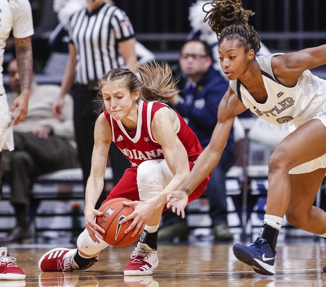 FILE -- Ali Patberg of IU Hoosiers women's basketball.