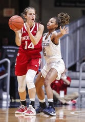FILE -- Ali Patberg led IU against Youngstown State.