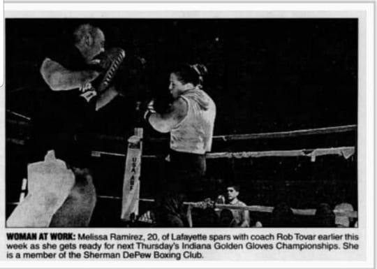 Melissa Ramirez was named Indiana's Outstanding Female Fighter of the Year in 2002.