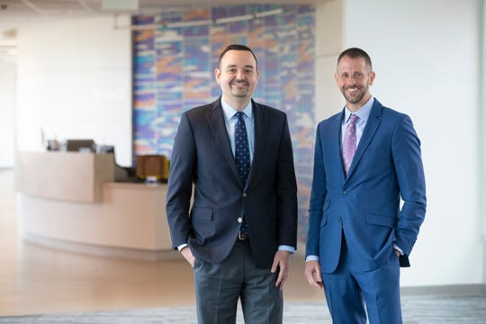 Indiana University School of Medicine researchers Milan Radovich and Bryan Schneider lead the IU Precision Health Initiative breast cancer team.