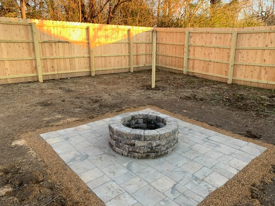 The Tiger group from Leadership Jackson's 2019 class built this firepit in the backyard of JACOA for residents to enjoy during their rehabilitation.
