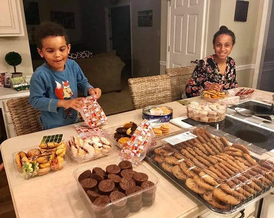 Cookies for the homeless, by pint-sized bakers Neven and Mateya. 2018.