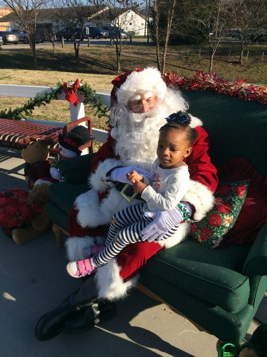 Sophia Rutherford, 2, of Knoxville, got to spend some time with Santa.