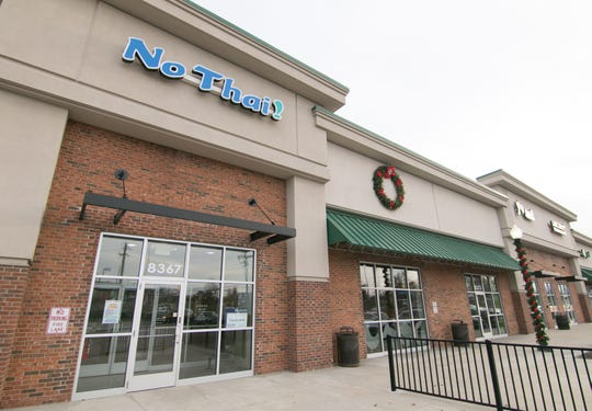 The No Thai! restaurant, shown Thursday, Dec. 11, 2019, is located in the Brighton Mall.