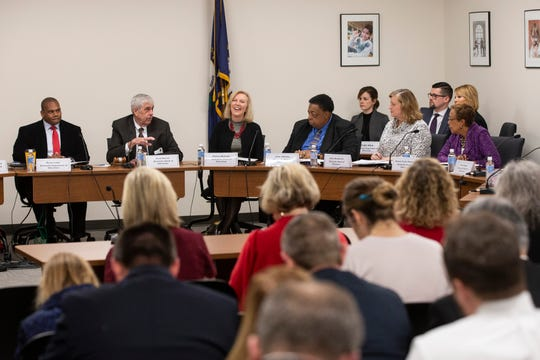 The Kentucky Education Board begins a meeting in Frankfort to swear in new members and handle items of business. Dec. 12, 2019