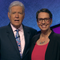 "Lansing resident Robin Miner-Swartz with ""Jeopardy!"" host Alex Trebek. Miner-Swartz will compete in an episode of the show scheduled to air later this month."