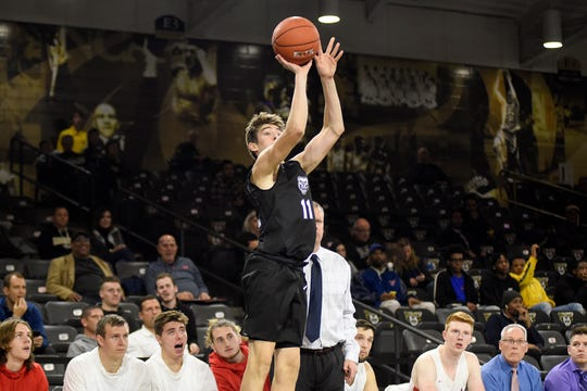 Haslett's Blake Lampman is averaging more than 20 minutes per game as a freshman walk-on at Oakland.