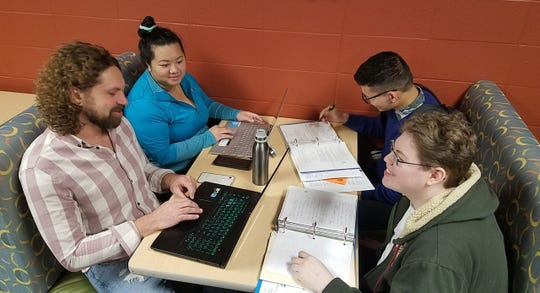 LTC business management program students Jamie Feldmann, Kabao Lor, Namnansuren Dagiimaa and Andrew Kraus are all planning on getting their bachelor's degrees after earning their associate degrees from LTC.
