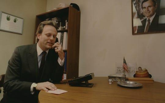 Former U.S. Rep. Scott Klug, shown in 1991.