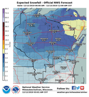 The northern half of Wisconsin will see snow on Thursday while a wintry mix of snow, rain and freezing drizzle falls across southern Wisconsin.
