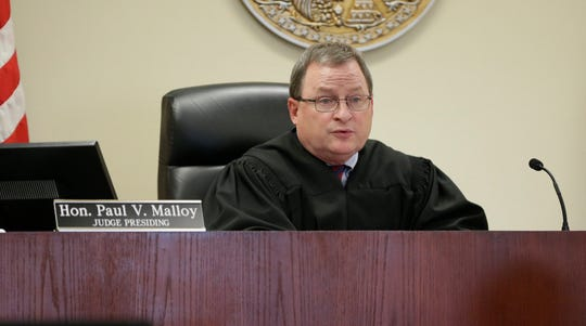Ozaukee County Circuit Judge Paul Malloy, shown during a 2015 hearing.