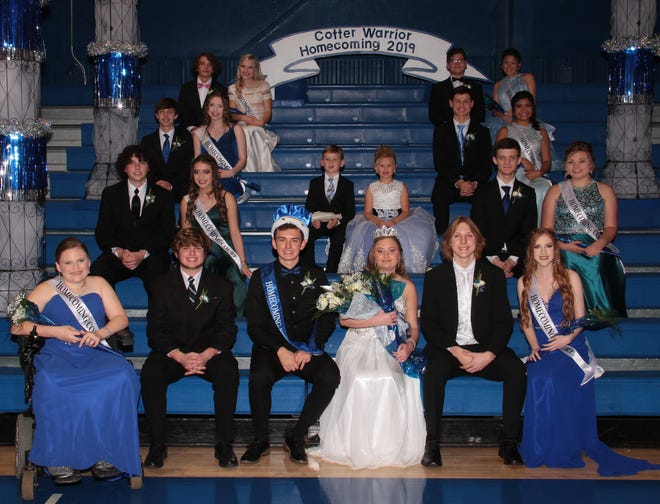 Cotter's Homecoming festivities were held Nov. 22 at the Cotter Coliseum. Tucker Coots and Bethany McBee were crowned the event's king and queen.