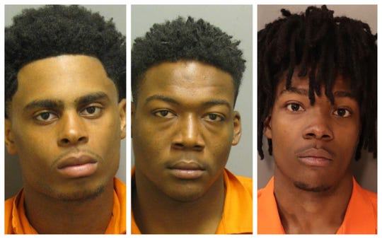 Kelviocis Lamar Scott, Damontez Shamar Franklin and Audley Davon Holmes were charged with a combined 230 felony theft and vehicle-break in crimes following a 72-hour spree across the city.