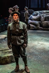 "Jim Poulos in a scene from ""All is Calm,"" which runs through Dec. 29 at Alabama Shakespeare Festival."