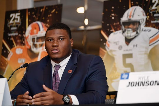 Auburn's Derrick Brown during events at the Bronko Nagurski Award ceremony on Monday, Dec. 9, 2019 in Charlotte, NC.