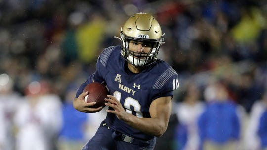 Navy quarterback Malcolm Perry needs just 88 yards to set the school's all-time single-season rushing record and 69 yards to set the school's single-season record for total offense.