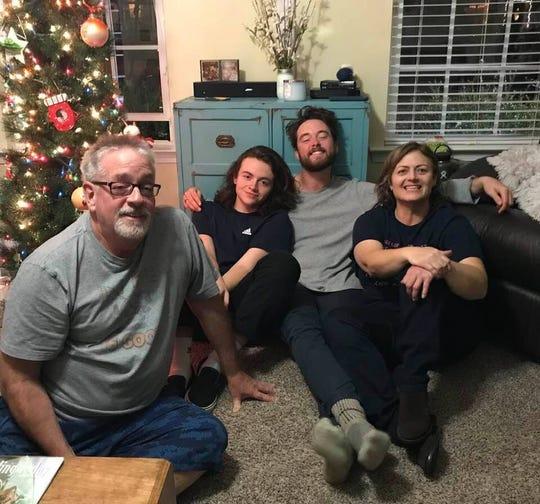 From left, Jack Hamilton, Dalton Hamilton, 16, Patrick Hamilton, 22 and Missy Hamilton, 50.