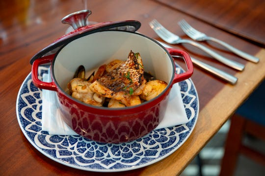 Grappino's cacciucco, or Tuscan seafood stew, is pictured Wednesday, Dec. 11, 2019, in Naples