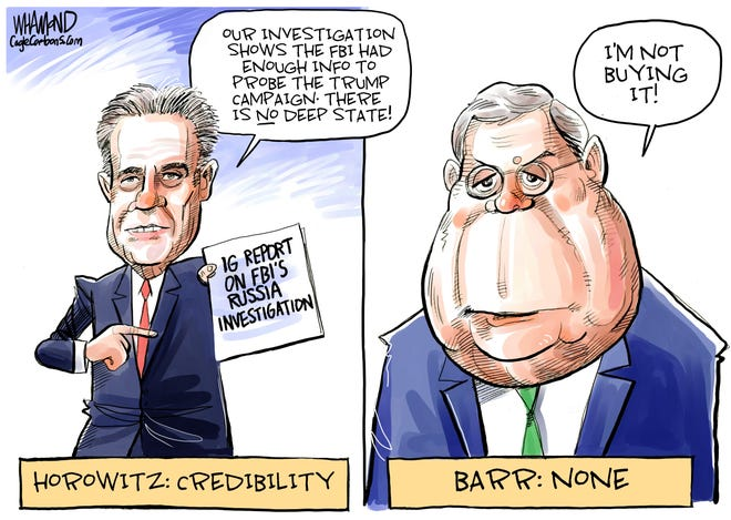 Barr not buying IG's report on Russia.