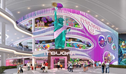 A rendering of the IT'SUGAR location set to open in American Dream on Saturday, Dec. 14.