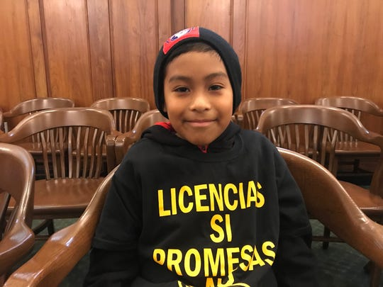 David, 9, of Passaic, urged New Jersey lawmakers on Thursday to pass a bill that would allow his parents to get driver's licenses.