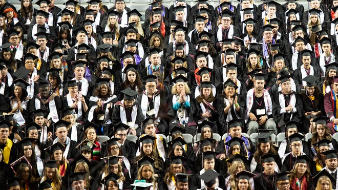 Fall commencement ceremonies will be held Friday, Dec. 13, at 6 p.m. for doctoral and master candidates and on Saturday, Dec. 14, at 10 a.m. for bachelor's degrees.